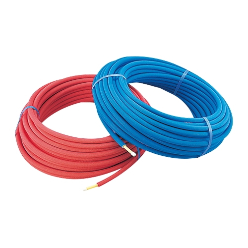 KAKUDAI カクダイ 672-118-50B 保温材つき架橋ポリエチレン管50m(青) 呼20 【保温材厚さ10ミリ】