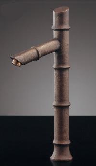 KAKUDAI カクダイ 無音(しじま) 716-256-13 立水栓(竹) <90度開閉ハンドル>