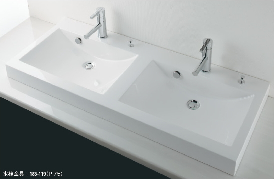 KAKUDAI カクダイ marmorin(マルモリン) #MR-493223H 角型洗面器(ポップアップ独立つまみタイプ)