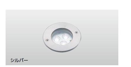 タカショーエクステリア 地中埋込型ライト(耐荷重タイプ) グランドライト6型(ローボルト) 15mm厚ガラス仕様 HBD-W05S(シルバー) 白