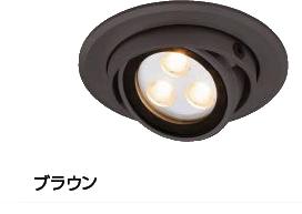 タカショーエクステリア ダウンライト2型 ユニバーサル(ローボルト) HBH-D02B(ブラウン) 電球色