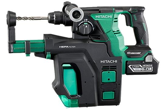 HiKOKI/ハイコーキ(日立電動工具) 18V充電式ロータリーハンマードリル DH18DBDL(2LYPK)【6.0Ah電池×2個付】(SDSプラス)