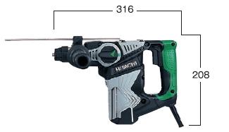 HiKOKI/ハイコーキ(日立電動工具) 28mmロータリーハンマードリル DH28PC(SDSプラス)