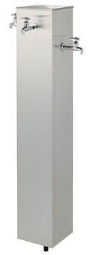 KAKUDAI カクダイ 624-128 公園用ステンレス水栓柱(胴長横水栓4個つき)