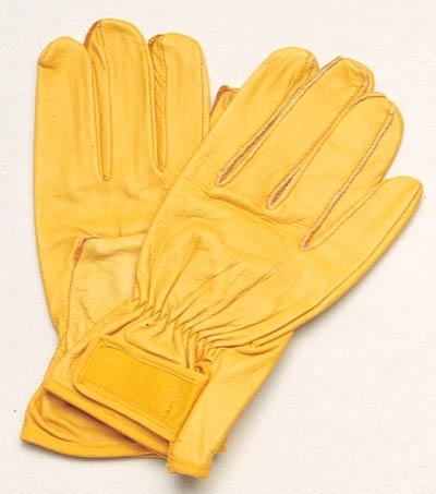 【伝統のKOZUCHI】 コヅチ 手袋 マジックソフト イエロー サイズL KG-123(10双入)