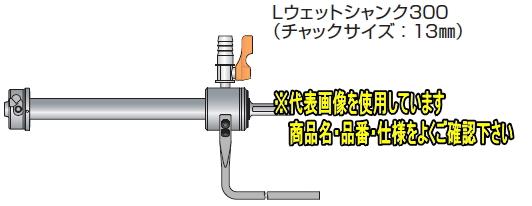 ミヤナガ ポリクリックシリーズ Lウェットシャンク300SDS PCSKWDLR30 【φ50以下】