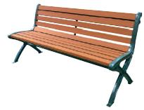 樹脂製 木調カラー ミヅシマ工業 249-0130 リサイクルベンチ RB5-SW【納期目安4~5日/※代金引換便はご利用になれません】