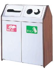 ミヅシマ工業 分別屑入 360-0080 BUNBETUダストハウスWS2 【55L×2】【投入口・分別シール選択あり】【納期目安4週間/※代金引換便はご利用になれません】