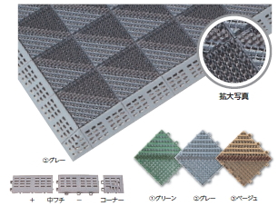 ミヅシマ工業 ブラシタイプ 402-1700/710/720 ブラシマットA 本体 【80ピース】【カラー選択下さい】【納期目安3~4日】