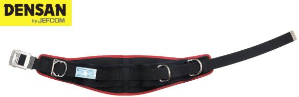 DENSAN(デンサン/ジェフコム) 柱上安全帯用ベルト D環2個 DB-R300DS-BK ブラック×レッド