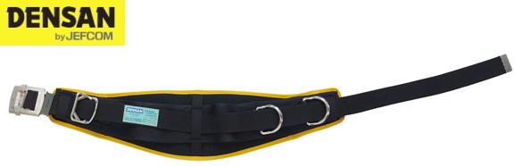 DENSAN(デンサン/ジェフコム) 柱上安全帯用ベルト D環2個 DB-R300DS-BKY ブラック×イエロー