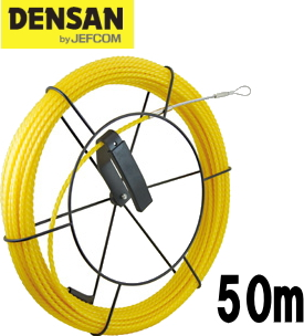 DENSAN(デンサン/ジェフコム) 太径呼線リール付セット SYX-6550-RL 【リール+ウルトライエローエース50m】