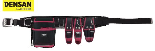 DENSAN(デンサン/ジェフコム) 電工プロキャンバス腰道具セット JNDS2-96BK-SET
