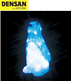DENSAN(デンサン/ジェフコム) LEDクリスタルモチーフ ペンギン(中)A STM-F12-MA