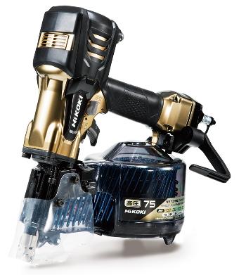 【メーカー再生品】 [パワー切替機構付]:ケンチクボーイ HiKOKI/ハイコーキ(日立電動工具) 【高圧】 ロール釘打機 NV75HR2(S)-DIY・工具