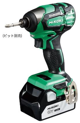 HiKOKI/ハイコーキ(日立電動工具) 18V [3.0Ah] コードレスインパクトドライバ WH18DB(2SC)