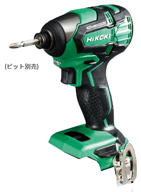 HiKOKI/ハイコーキ(日立電動工具) 18V コードレスインパクトドライバ WH18DB(NN) (本体のみ)【バッテリー・充電器・ケース別売】