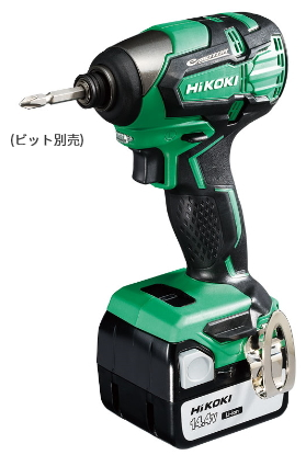 HiKOKI/ハイコーキ(日立電動工具) 14.4V [3.0Ah] コードレスインパクトドライバ WH14DB(2SC)