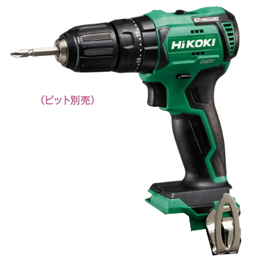 HiKOKI/ハイコーキ(日立電動工具) 10.8V コードレス振動ドライバドリル DV12DD(NN) 【バッテリー・充電器・ケース別売】