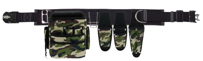 DENSAN(デンサン/ジェフコム) ワークポジショニング用器具 腰道具セット(WSDシリーズ) 迷彩 WSD-97-1BK
