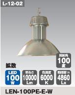 日動工業 LEDメガライト100W(吊り下げ式) LEN-100PE-E-W