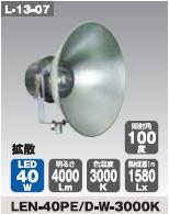 日動工業 LEDメガライト40W(投光器式) LEN-40PE/D-W-3000K