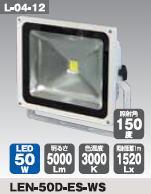 日動工業 LEDエコナイター50Wタイプ LEN-50D-ES-WS