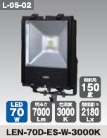 日動工業 LEDエコナイター70Wタイプ LEN-70D-ES-W-3000K