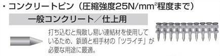 マキタ電動工具 ガス式鋲打機TF-1100JQ用ピン(鋲)セット品 コンクリートピン 32mm(1連10本×100連) A-36603