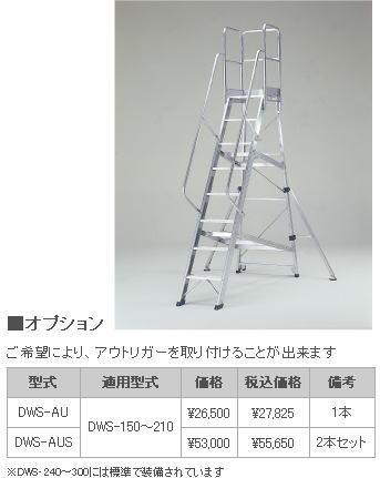 ピカ 作業台 DWS、DWR用アウトリガー DWS-AU