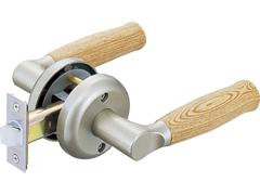 木製兼用レバー取替錠 空錠 バックセット60mm 握玉からレバーハンドルへ取替え!