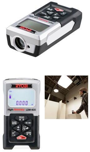 リョービ レーザー距離計(プロ用ツール)【防じん・防水IP54】 LDM-400