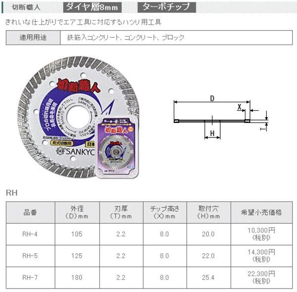 三京ダイヤモンド 切断職人 180mm RH-7