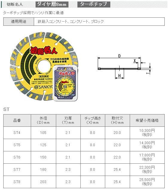 三京ダイヤモンド 切断名人 180mm ST-7