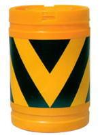 SC クッションドラム ゼブラ柄(黄/黒) ビニール袋5袋付 580φ×820
