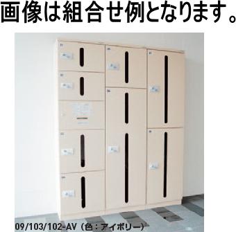 神栄ホームクリエイト(旧新協和) カーゴボックス(ダイヤル錠式) SK-CBX-103-AV(小+大)【※メーカー直送品のため代金引換便はご利用できません】