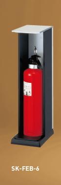 神栄ホームクリエイト(旧新協和) 消火器ボックス(据置型) SK-FEB-6 オープン型/天プレートなし/シルバーメタリックグレー