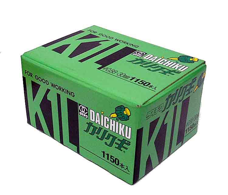 カリクギ K1L(1150本入)30mm ×6箱 1ケース
