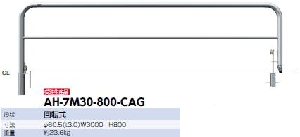 グランドセール サンポール 回転式アーチ 60.5×W3000×H800 AH-7M30-800-CAG 【※メーカー直送品のため便はご利用になれません】 51668, 大和の駄菓子屋:fdc7d66e --- eurotour.com.py