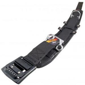 タジマツール 柱上用安全帯胴当てベルトセット カーブ CCX850-ABCL145-BK 【Lサイズ/アルミワンフィンガーバックル(黒)】