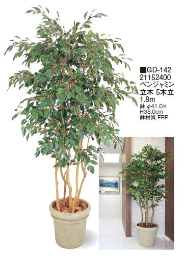 タカショーエクステリア ベンジャミン 立木 5本立 1.8m GD-142【※代引はご利用できません】