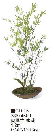 タカショーエクステリア 爽風竹 盆栽 1.2m GD-15【※代金引換便はご利用できません】