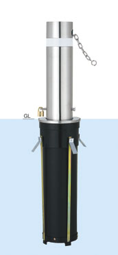帝金 バリカー上下式 31NC バリアフリー取替用支柱