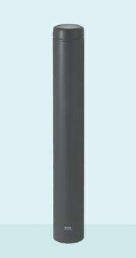 帝金 バリカー ボラード TPF-02PK ダークグレー 脱着式カギ付