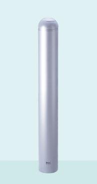 帝金 バリカー ボラード TPF-16A メタリックシルバー 固定式