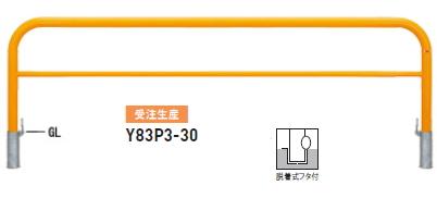 帝金 バリカー横型 Y83P3-30(脱着式フタ付)【受注生産】【※メーカー直送品のため代引きご利用できません】