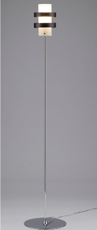 TOKYO METAL 東京メタル工業 ライト フロアースタンド V-9 CHZ(クローム) 〈蛍光灯付〉