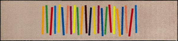 wash+dry  ウォッシュアンドドライ マット C011F【Mixed Stripes】 60×260cm