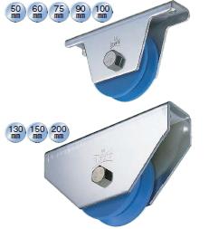 使い勝手の良い ヨコヅナ MC防音重量戸車 V型 ステンレス枠 JMS-1005 NEW ARRIVAL 2個入 100mm