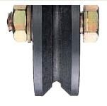 ヨコヅナ 鉄重量戸車 ※車のみ(ボルト・ナット付) V型 150mm JHP-1505【1個入】